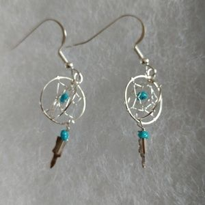 DREAMCATCHER STERLING SILVER EARRINGS